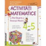 Activitati matematice cu Rita-Gargarita si Greierasul albastru caiet pentru grupa mijlocie 4-5 ani(editura Aramis, autori: Stefania Antonovici, Mihaela Mitroi isbn: 978-973-679-857-3)
