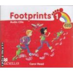 Footprints 1 Audio CDs ( editura: Macmillan, autor: Carol Read ISBN 978-0-2300-1192-2 )