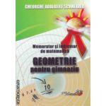 Memorator si indrumar de matematica - geometrie pentru gimnaziu ( editura: Hiperyon, autor: Gheorghe Adalbert Schneider ISBN 978-606-589-014-5 )