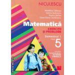 Matematica exercitii si probleme semestrul I clasa a V a ( Editura : Niculescu , Autor : Madalina Calarasu , Valeria Buduianu , Rozica Stefan , Oana-Dana Cioraneanu ISBN  978-973-748-794-0 )