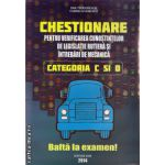 Chestionare pentru verificarea cunostintelor de legislatie rutiera si intrebari de mecanica categoriile C si D  ( editura : Shik , autori : Dan Teodorescu ,  ISBN 9789738924512 )