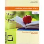 Evaluare pentru clasa a IV -a : 10 teste - Comunicare in lb. romana si matematica ( editura : Booklet , autor : Alina Ionela Jiga , ISBN 9786065901759 )