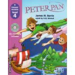 Primary Readers - Peter Pan - Level 4 reader with CD ( editura : MM Publications , autor : James M. Barrie , ISBN 9789604434350 )