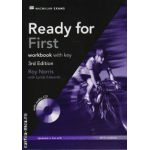 Ready for First workbook with key and CD - 3d edition ( editura: Macmillan, autor: Roy Norris, ISBN 978-0-230-44007-4 )