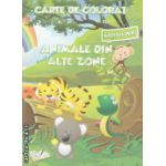 Carte de colorat cu abtibilduri Animale din alte zone ( Editura : Ars Libri , Autor : Adina Grigore ISBN 9786065744011 )