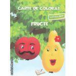 Carte de colorat cu abtibilduri Fructe ( Editura : Ars Libri , Autor : Adina Grigore ISBN 9786065741478 )