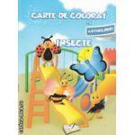 Carte de colorat cu abtibilduri Insecte ( Editura : Ars Libri , Autor : Adina Grigore ISBN 978-606-574-148-5 )