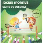 Jocuri sportive carte de colorat cu abtibilduri ( Editura : Ars Libri , Autor : Adina Grigore ISBN 9786065742260 )
