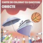 Obiecte carte de colorat cu ghicitori ( Editura : Ars Libri , Adina Grigore ISBN 978-606-574-234-5 )