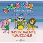 Coloram si invatam limba engleza, Instrumente muzicale ( Editura: All ISBN 978-606-8578-48-4 )