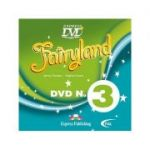 Curs limba engleză Fairyland 3 DVD ( Editura: Express Publishing, Autor: Jenny Dooley, Virginia Evans ISBN 9781846795275 )