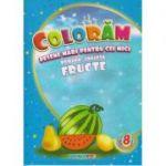 Coloram! Desene mari pentru cei mici. Romana-engleza. Fructe ( Editura: Eurobookids ISBN 978-606-8373-94-2 )
