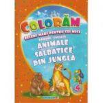 Coloram! Desene mari pentru cei mici. Romana-engleza. Animale salbatice din jungla ( Editura: Eurobookids ISBN 978-606-8373-90-4 )
