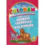 Coloram! Desene mari pentru cei mici. Romana-engleza. Animale salbatice din padure ( Editura: Eurobookids ISBN 978-606-8373-89-8 )