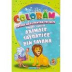 Coloram! Desene mari pentru cei mici. Romana-engleza. Animale salbatice din savana ( Editura: Eurobookids ISBN 978-606-8373-91-1 )