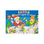 Iarna. 6 postere gigant de colorat! ( Editura: Nomina ISBN 978-606-535-745-7 )