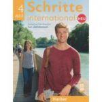 Schritte international Kurs-und Arbeitsbuch Neu Nr. 4 A2. 2 Zum CD ( Editura: Hueber, Autori: Silke Hilpert, Daniela Niebisch, Angela Pude ISBN 978-3-19-601084-8)