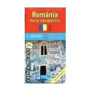 ROMANIA - HARTA MANASTIRILOR