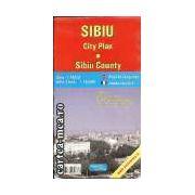 SIBIU - PLANUL ORASULUI + JUD. SIBIU