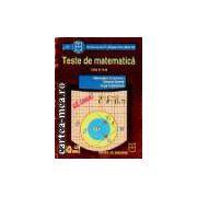 Teste de matematica - clasa a V I I-a