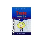 Teste clasa a IV a Limba romana si Matematica ( Editura : Carminis , Autor : Silvia Barbu , Rodica Dinescu , Carmen Minulescu ISBN 973-7826-79-5 )