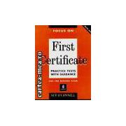 FIRST CERTIFICATE-PRACTICE TESTS WITH GUIDANCE(editura Longman, autor:SUE O'CONNELL isbn:0-175-57131-7)