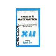 ANALIZA MATEMATICA - cl. a 12-a
