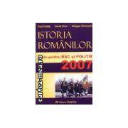 Istoria romanilor-teste pentru bac si politie 2007