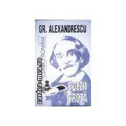 Poezii si proza-Grigore Alexandrescu