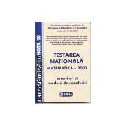 Matematica testare nationala 2007-variantele de subiecte
