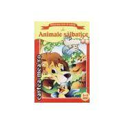 Animale salbatice-carte de colorat 3-4 ani