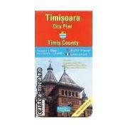 TIMISOARA - PLANUL ORASULUI + JUD. TIMIS