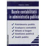 Bazele contabilitatii in administratia publica