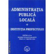 Administratia publica locala. Institutia prefectului