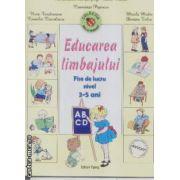 Educarea limbajului fise de lucru nivel 3-5 ani