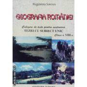 Geografia Romaniei culegere de teste pentru sustinerea tezei cu sibect unic clasa a VIII-a
