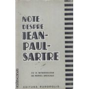 Note despre Jean-Paul-Sartre