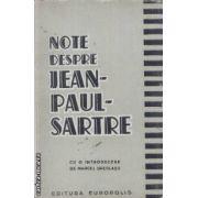 Note despre Jean-Paul-Sartre