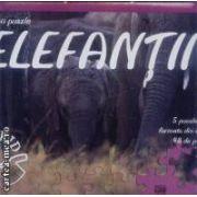 Invatati cu puzzle Elefantii