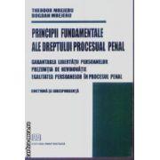 Principii fundamentale ale dreptului procesual penal Doctrina si jurisprudenta