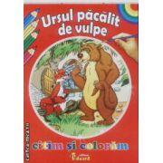 Citim si coloram Ursul pacalit de vulpe
