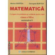 Matematica Culegere de probleme si subiecte pentru teza clasa a VIII-a sem I