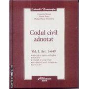 Codul civil adnotat vol 1Art. 1-629