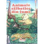 Animale salbatice din lume Carte de citit si colorat