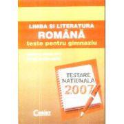 Limba si literatura Romana teste pentru gimnaziu
