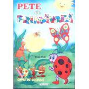 Pete de primavara carte de colorat