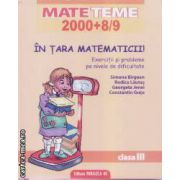 Mate teme 2000+8/9 In tara matematicii