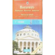Bucuresti harta turistica / Tourist map / Carte touristique / Touristische landkarte