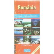 Romania campings and motels map