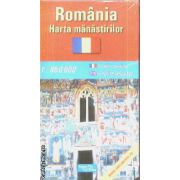 Romania harta manastirilor / map of monasteries